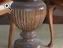 Splendido tavolo in legno massello intarsiato - Anteprima immagine 2