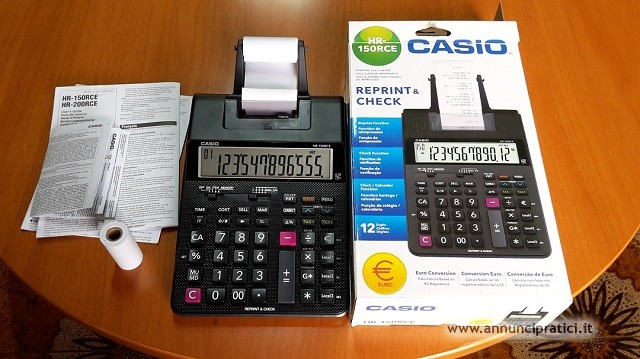 calcolatrice casio HR-150 RCE