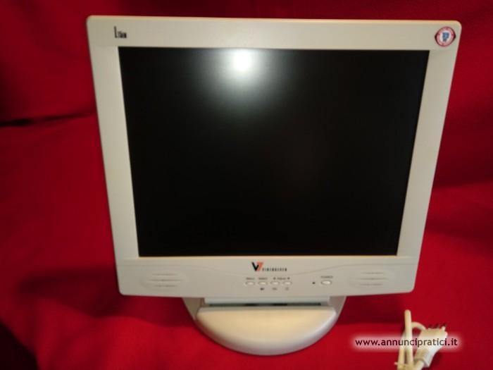 LCD monitor 15`` V7 + Tastiera e Mouse Wireless