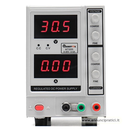 Alimentatore 110v 50/60hz  uscita:05-30v regolabi