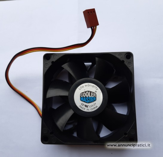 Ventola per case PC 80 x 80 DC 12V. 0,10A