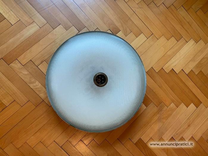 VENDO Plafoniera vetro anni50 ORIGINALE