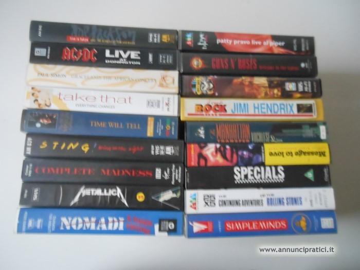 54 VHS gruppi rock