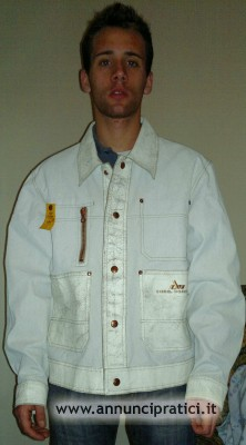 giubbotto DIESEL Jeans bianco