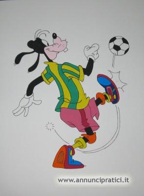 Disegno Pippo che gioca a calcio a tempera