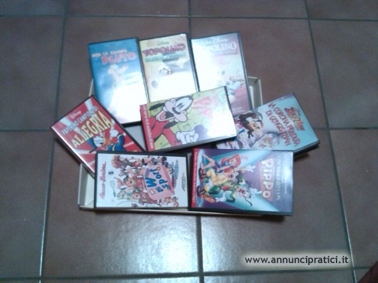 videocasette vhs W. DISNEY originali